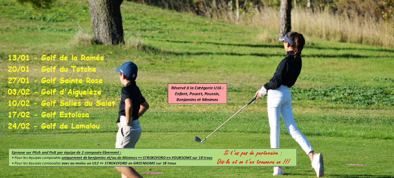 circuit pitch and putt jeunes estolosa ligue de golf occitanie. Black Bedroom Furniture Sets. Home Design Ideas