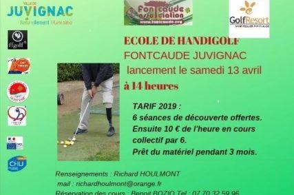 Ecole Handi-Golf à Fontcaude