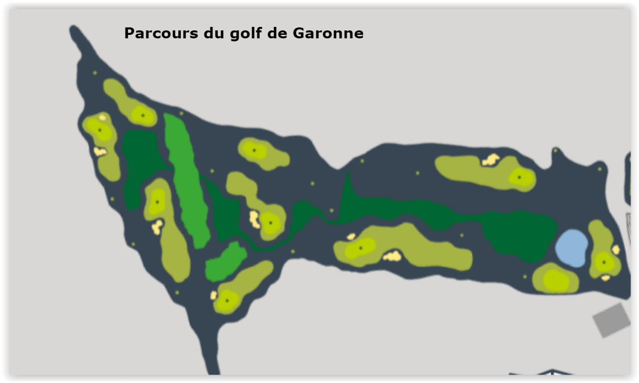 Le parcours du golf de Garonne