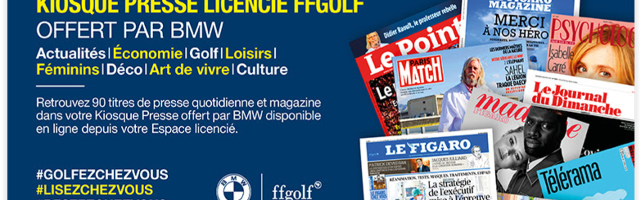 Profitez du kiosque Presses de la FFGolf