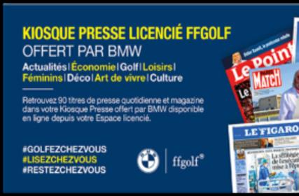 Profitez du kiosque de la FFGolf